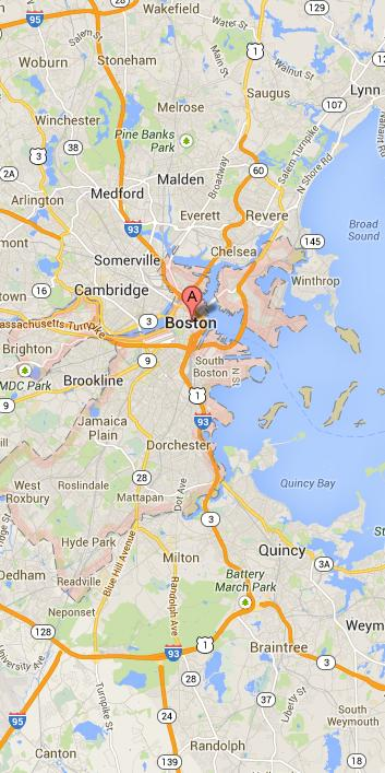 Map of Boston Vicinity