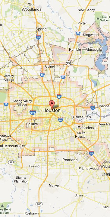 Map of Houston Vicinity