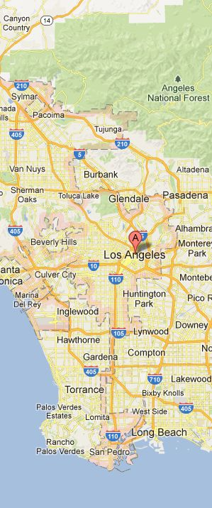 Map of Los Angeles Vicinity