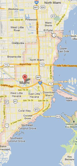 Map of Miami Vicinity