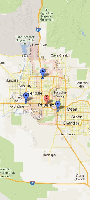 Map of Phoenix Vicinity