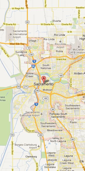 Map of Sacramento Vicinity
