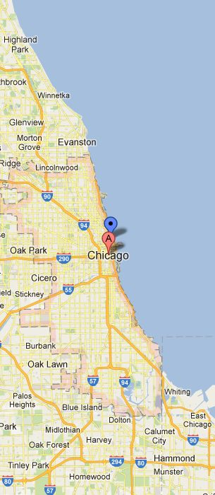 Chicago Location Map