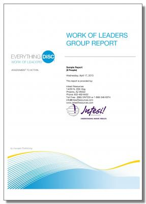 Everything DiSC Work of Leaders Group Report